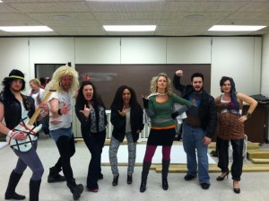 The RD's all dressed up from last year's Lip Sync.